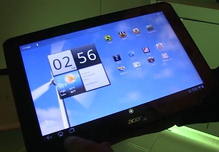 Acer Iconia Tab A700 mit einer Full HD Auflösung